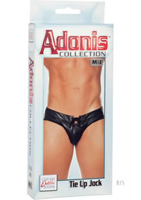 Adonis Tie Up Jock M/l Black (disc)