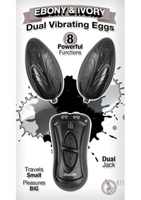 Ebony and Ivory Dual Vibrating Eggs Black