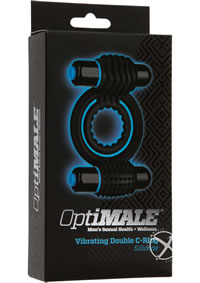 Optimale Vibrating Double C-ring Black