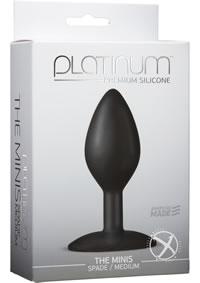 Platinum Mini Spade Med Black