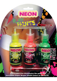 Neon Body Paints Asst 3pk