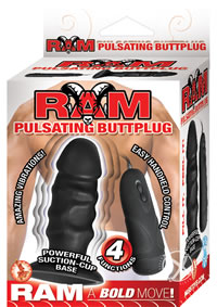 Ram Pulsating Buttplug Black