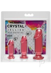 Crystal Jellies Anal Starter Kit Pink