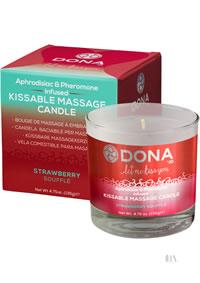 Kissable Massage Candle Straw 4.75floz