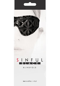 Sinful Blindfold Black