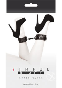 Sinful Ankle Cuffs Black