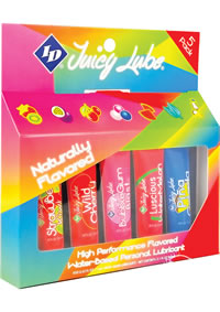 Id Juicy Lube Assorted 12 Ml Tube 5 Pk
