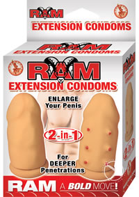 Ram Extension Condoms Flesh