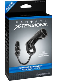 Fx Extreme Enhancer W/anal Plug Black