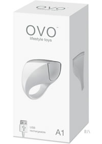 Ovo A1 Rechargeable Ring White Chrome