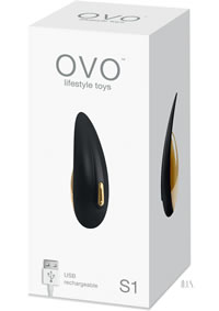 Ovo S1 Rechargeable Lay On Black Gold