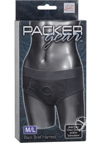 Packer Gear Black Brief Harness M/l