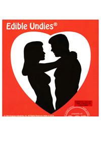 Edible Undie 3pc Pink Champagne (disc)
