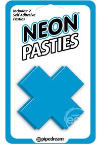 Neon X Pasties Blue