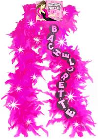Flashing Bachelorette Pink Boa (disc)