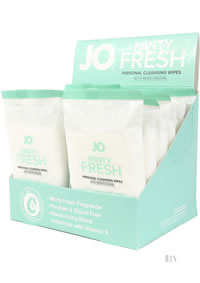 Jo Wipes Minty Fresh 12pk 12/disp