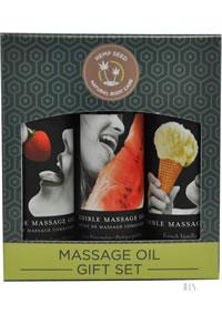 Hemp Seed Massage Oil Edible Gift Set