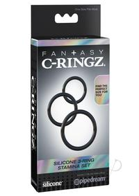 Fcr Silicone 3 Rings Stamina Set Black