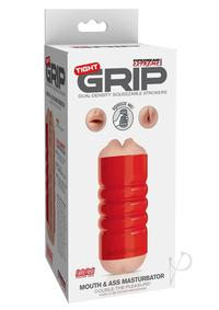 Pdx Tight Grip Mouth/ass Masturbator Red