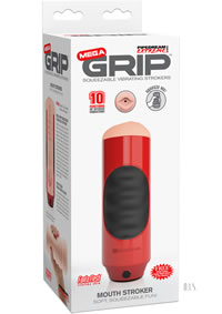 Pdx Mega Grip Vibe Mouth Stroker Red