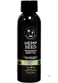 Hemp Massage Oil Cucumber Melon 2oz