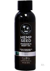 Hemp Massage Oil Lavender 2oz
