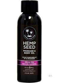 Hemp Massage Oil Skinny Dip 2oz