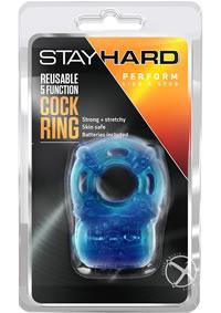 Stay Hard 5 Func Reusable Vibe Cockring