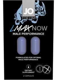 Jo Lmax Male Performance 2ct 12/disp