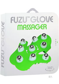 Fuzu Glove Massager Neon Green 20/disp