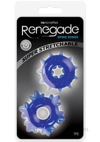 Renegade Spike Rings Blue