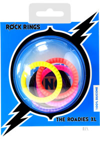 Rock Rings Roadies Xl Neon 5pk (disc)