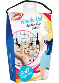 Frisky Hands Up Suction Cup Cuffs
