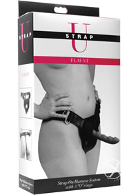 Flaunt Strap On Harness W 3 Rings