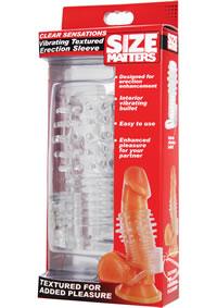 Vibrating Textured Erection Sleeve