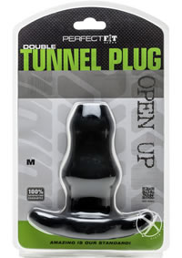 Double Tunnel Plug Medium Black