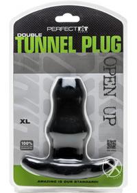 Double Tunnel Plug X-large Black