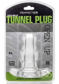 Double Tunnel Plug X-large Clear
