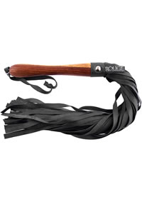 Rouge Wooden Handle Flogger Black