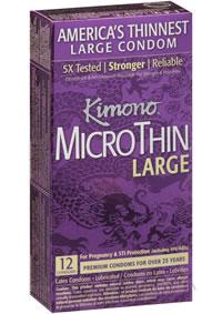 Kimono Micro Thin Lg 12pk
