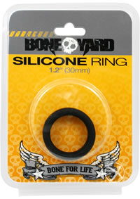 Boneyard Silicone Ring 30mm Black
