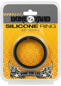Boneyard Silicone Ring 50mm Black