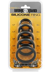 Boneyard Silicone Ring 5pc Black