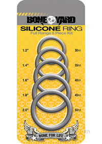 Boneyard Silicone Ring 5pc Gray