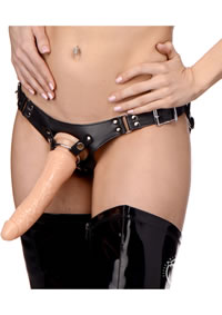 Dominance Leather Strap On Harness