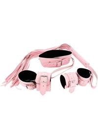 Leather Pink Bondage Set