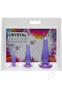 Crystal Jellies Anal Initiation Kit Purp