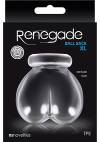 Renegade Ball Sack Xl Clear (disc)