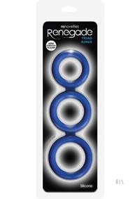 Renegade Triad Cock Ring Blue