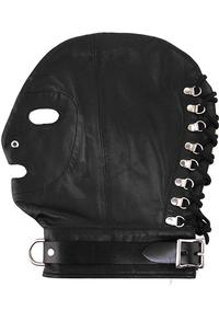 Rouge Mask W/d Ring and Lock Strap Black